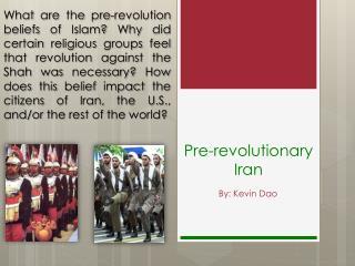 Pre-revolutionary Iran