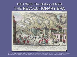 HIST 3480: The History of NYC THE REVOLUTIONARY ERA
