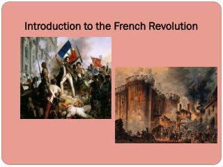 Introduction to the French Revolution