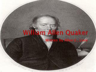 William Allen Quaker