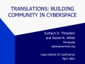 TRANSLATIONS: BUILDING COMMUNITY IN CYBERSPACE