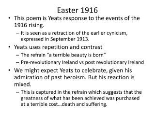 compare september 1913 to easter 1916