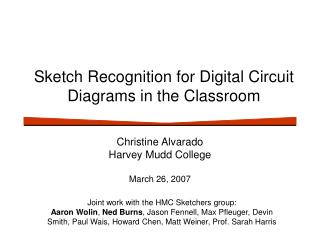 Sketch Recognition for Digital Circuit Diagrams in the Classroom