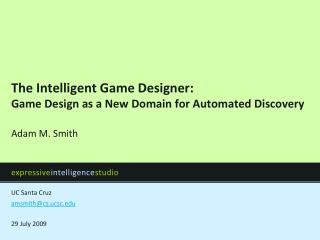 The Intelligent Game Designer: Game Design as a New Domain for Automated Discovery