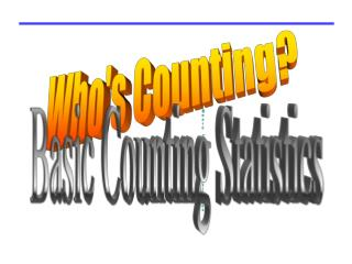 Basic Counting Statistics