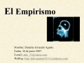 El Empirismo