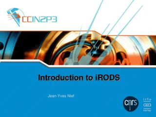 Introduction to  iRODS