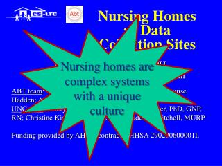 Nursing Homes as Data Collection Sites