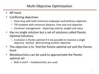 Multi-Objective Optimization