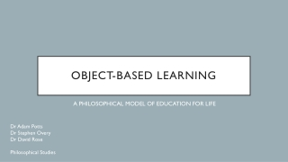 Object-Based Learning