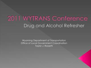 2011 WYTRANS Conference