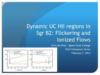 Dynamic UC HII regions in  Sgr  B2: Flickering and Ionized Flows