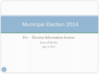 Municipal Election 2014