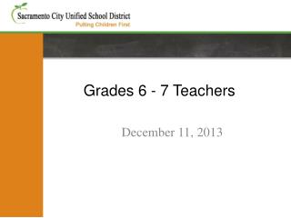 Grades 6 - 7 Teachers