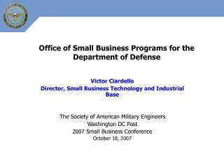 Office of Small Business Programs for the Department of Defense