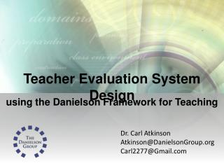 Teacher Evaluation System Design