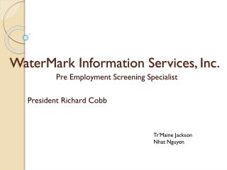 WaterMark Information Services, Inc.