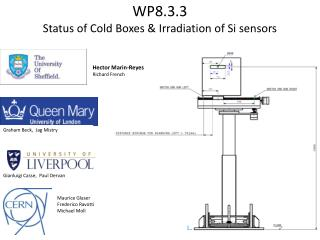 WP8.3.3  Status  of Cold Boxes & Irradiation of Si sensors