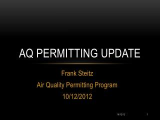 AQ Permitting Update