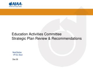 Education Activities Committee   Strategic Plan Review & Recommendations
