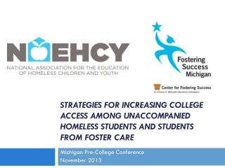 Michigan Pre-College Conference November 2013