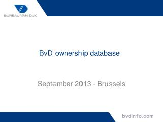 BvD  ownership database