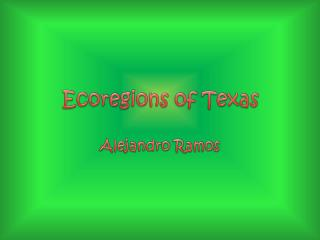 Ecoregions of Texas
