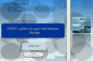 ONEE's  policy to cope with climate change