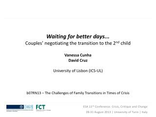 b07RN13 – The Challenges of Family Transitions in Times of Crisis