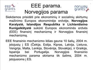 EEE parama. Norvegijos parama
