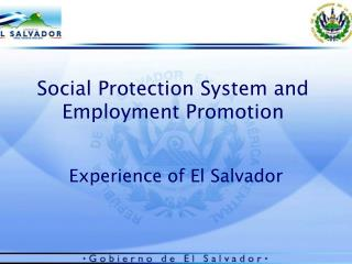 Social Protection System and Employment Promotion