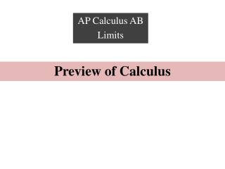 Preview of Calculus