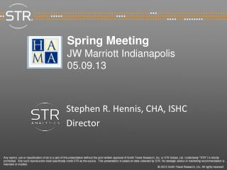 Spring Meeting JW Marriott Indianapolis 05.09.13