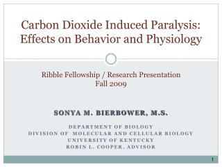 Ribble Fellowship / Research Presentation  Fall 2009