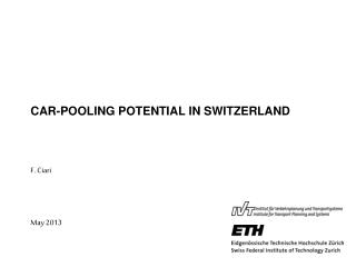 CAR-POOLING POTENTIAL IN SWITZERLAND
