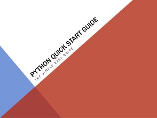 Python quick start guide