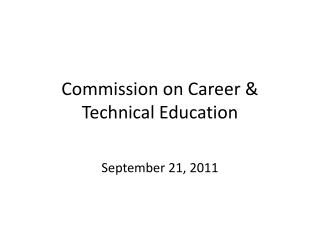 Commission on Career & Technical Education