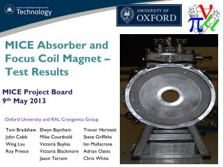 MICE Absorber and Focus Coil Magnet – Test Results