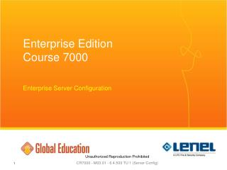 Enterprise Edition Course 7000