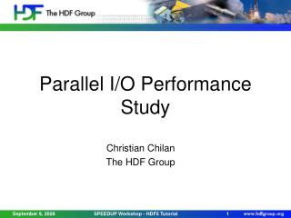 Parallel I/O Performance Study