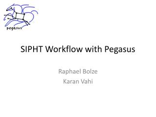 SIPHT Workflow with  P egasus