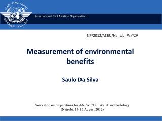 Measurement of environmental  benefits Saulo Da Silva