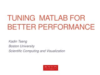 Tuning  MATLAB for better performance