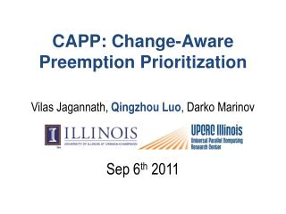 CAPP: Change-Aware  Preemption Prioritization