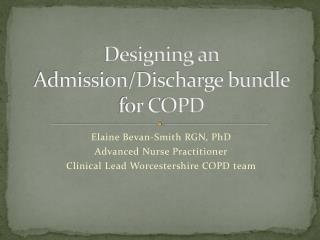 Designing an Admission/Discharge bundle for COPD