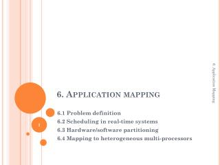 6.  Application mapping
