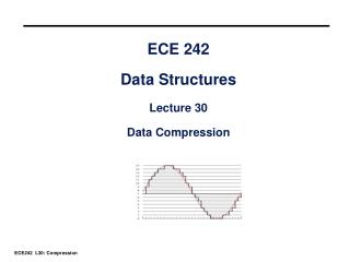 ECE 242 Data Structures Lecture 30 Data Compression