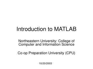 Lecture slides: week1-1