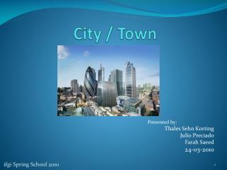 City / Town
