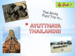 AYUTTHAYA THAILAND!!!
